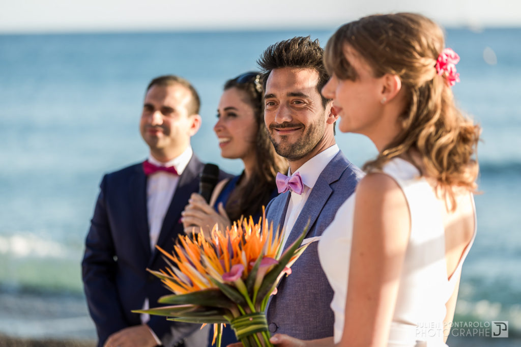 a sunset beach wedding in Greece 30