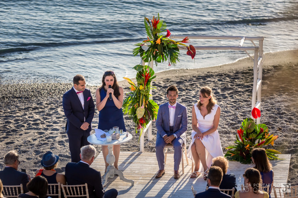 a sunset beach wedding in Greece 32