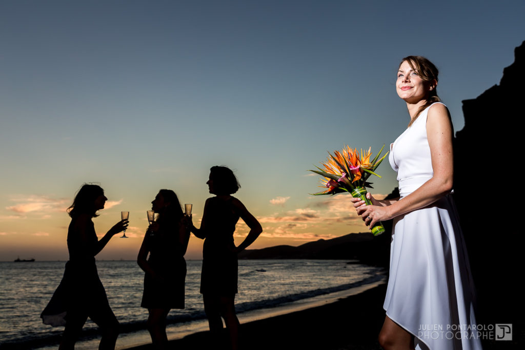 a sunset beach wedding in Greece 50