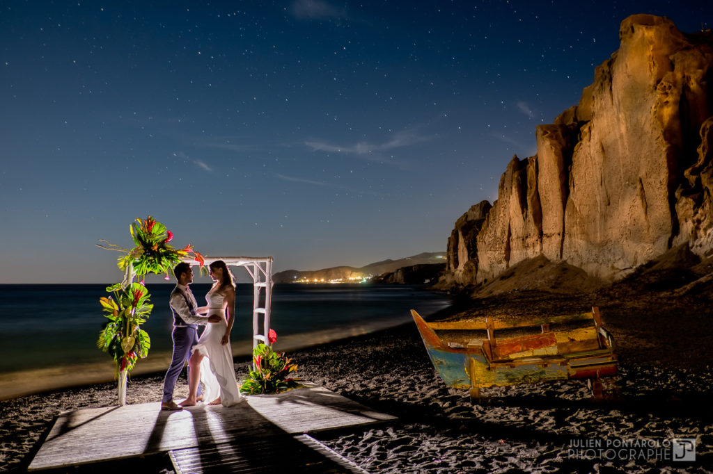 a sunset beach wedding in Greece 62